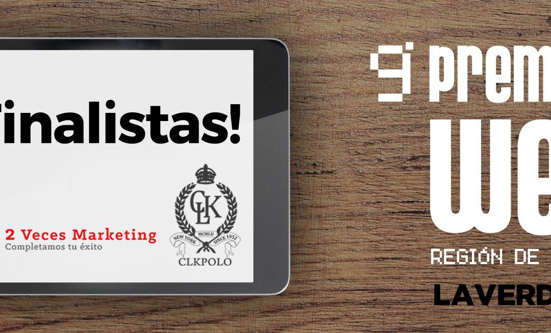 Finalistas en los IX Premios Web de La Verdad con CLK Polo