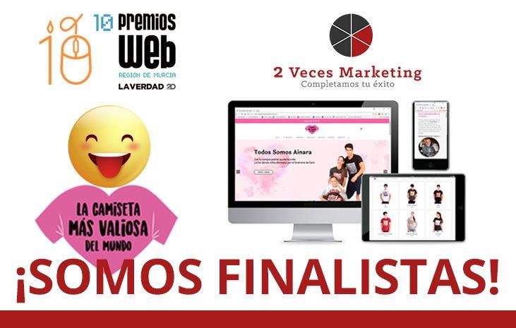 lacamisetamasvaliosadelmundo.com finalista en los X Premios Web de la Región de Murcia de la mano de 2 Veces Marketing