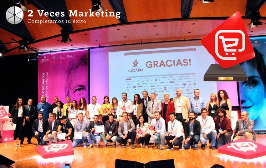 Tres de las webs de 2 Veces Marketing finalistas de los III Premios Cecarm