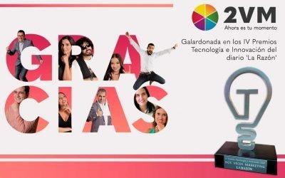 Nos otorgan el premio a La Mejor Agencia de Marketing en los IV Premios Tecnología e Innovación del diario 'La Razón'