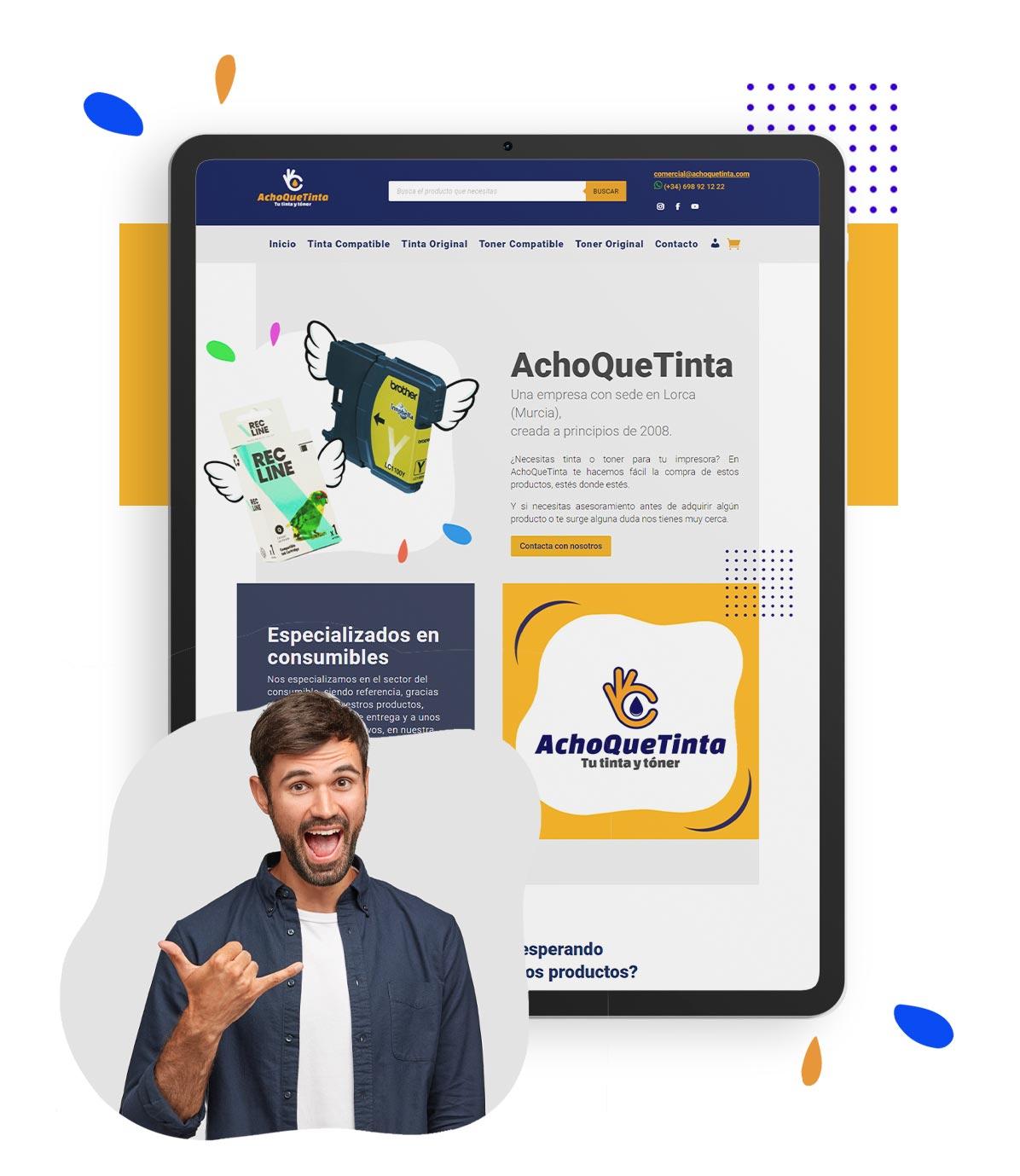 Desarrollo de tienda online para Achoquetinta